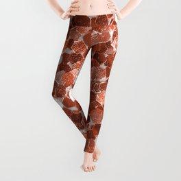 Rose gold glitter  II Leggings