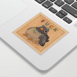 'Fuck' Pigeon 01 Sticker