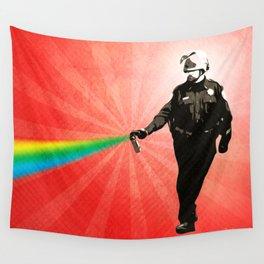 Pepper Spray Cop Rainbow - Pop Art Wall Tapestry
