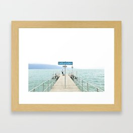 Embarcadère du Léman - Leman Jetty Framed Art Print