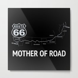 Mother Of Road - Route 66 Metal Print