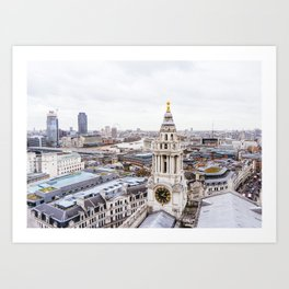 City View over London from St. Paul's Cathedral 2 Art Print