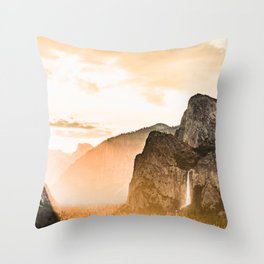 Yosemite Valley Burn - Sunrise Throw Pillow