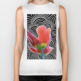 Tulip Drawing Meditation Biker Tank