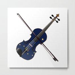 Alaska State Fiddle Metal Print