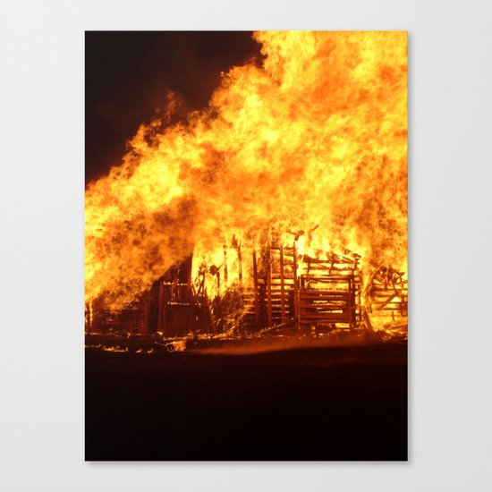 Burning Down the House Canvas Print