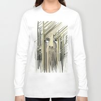 kurt cobain Long Sleeve T-shirts featuring Kurt Melting by eyesdrippingink