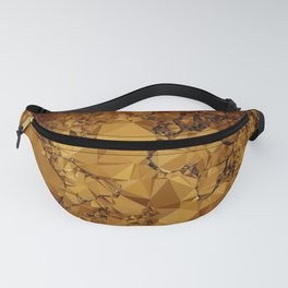 Old World Map Low Poly Geometric Triangles Fanny Pack