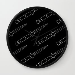 Knife Pattern Wall Clock