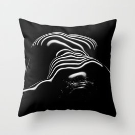 0686-AR BW Contemporary Art Nude Large Woman BBW Graceful and Strong Throw Pillow