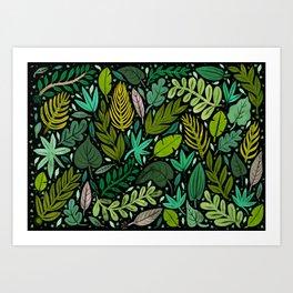 Green Scatter Art Print