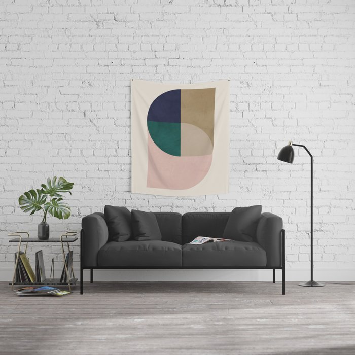 Turning Away Wall Tapestry