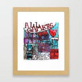 All Gamers Love It Framed Art Print