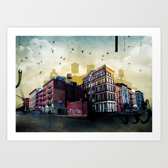 A New York City Street Art Print