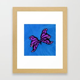 Purple Butterfly Framed Art Print