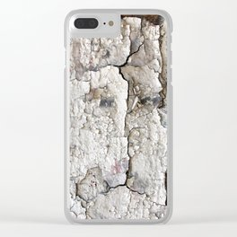 White Decay I Clear iPhone Case