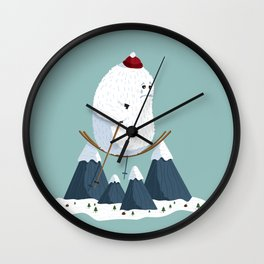 No slope, no hope Wall Clock