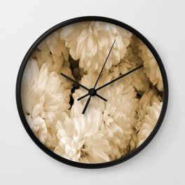 Monochrome Abstract Mums Wall Clock