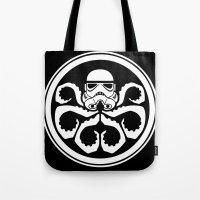 hydra Tote Bags featuring Hydra Trooper by Don Calamari