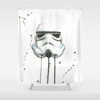stormtrooper Shower Curtains featuring Stormtrooper by McCoy