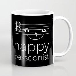 Happy bassoonist (dark colors/tenor clef) Coffee Mug