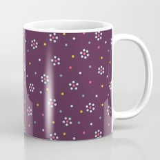 Floral Pattern In Purple And Dots Mug