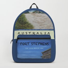 Travel Poster One Mile, NSW Backpack