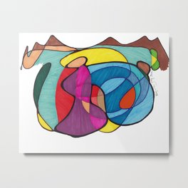 Baby In Tow Metal Print