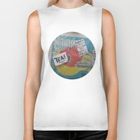 newspaper Biker Tanks featuring Newspaper box Freemont Seattle by RMK Creative