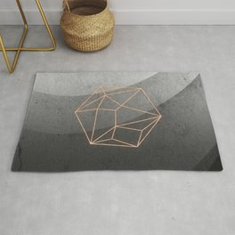 Geometric Solids on Marble Rug