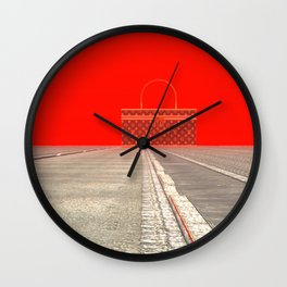 Squared: Shopping Wall Clock