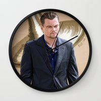 inception Wall Clocks featuring Inception - Cobb by Mel Hampson