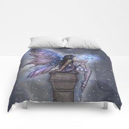Little Blue Moon Fairy Art by Molly Harrison Comforters