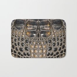 American alligator Leather Print Bath Mat