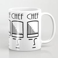 chef Mugs featuring Chef by HebeTees