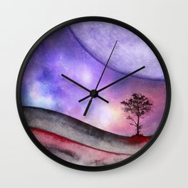 Lone tree 02 Wall Clock