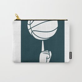 Basketball spinning on a finger Carry-All Pouch