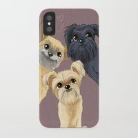 brussels iPhone & iPod Cases featuring Brussels Griffon by Bark Point Studio
