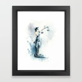 Lady Justice Framed Art Print