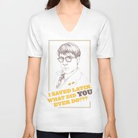 rushmore V-neck T-shirts featuring Rushmore by Michelle Eatough