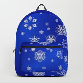 Snow in the Winter Night Backpack