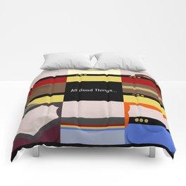 All Good Things - square Minimalist Star Trek TNG The Next Generation 1701 D  startrek  Trektangles Comforters