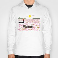 vietnam Hoodies featuring Vietnam by Design4u Studio