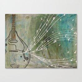 mandolin music Canvas Print