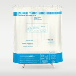 Diagame : Super Mario Bros. '85 Shower Curtain