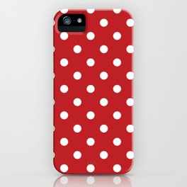 Red and White Polka Dots iPhone Case