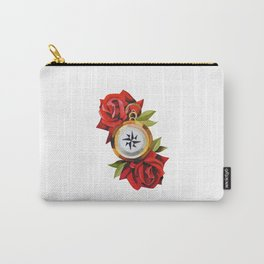 Traditional Rose & Compass Carry-All Pouch
