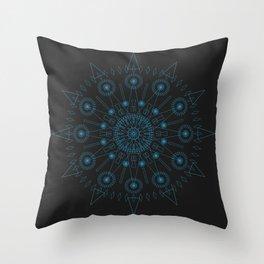 Spiked up Mandala Throw Pillow