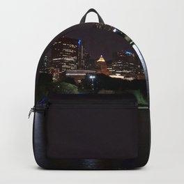 Chicago night skyline, Usa. Backpack