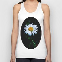 jewish Tank Tops featuring A daisy a day keeps the blues away by Brown Eyed Lady